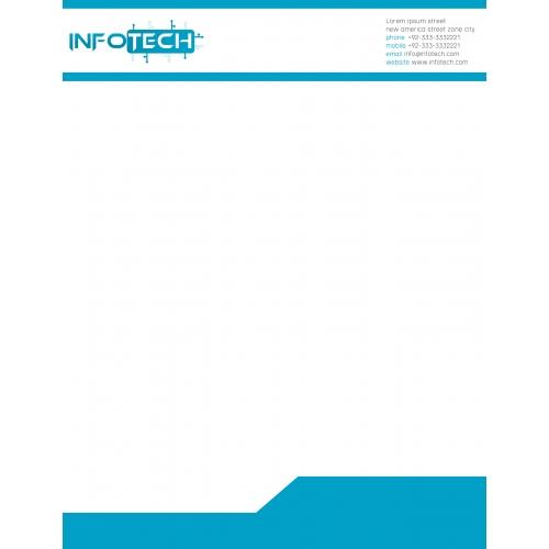 Info Tech Letterhead Design